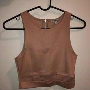 Charlotte Russe Cropped Tank Top